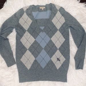 Burberry Cashmere Argyle Sweater
